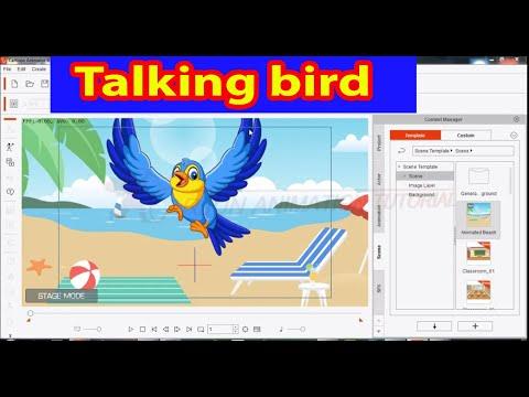 How To Make ! Talking Bird ! Cartoon Animator 4 ! Hindi