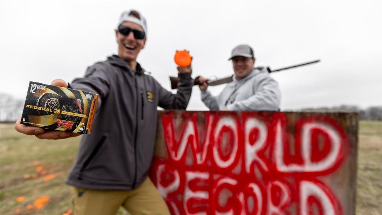 Worlds Longest Clay Pigeon Shot 💥 SHOTGUN   Gould Brothers