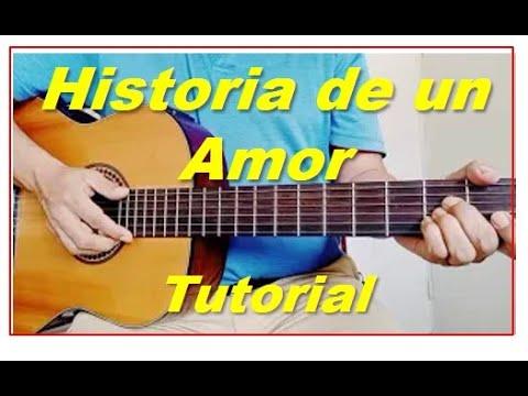 Como Tocar Historia De Un Amor En Guitarra. Tutorial