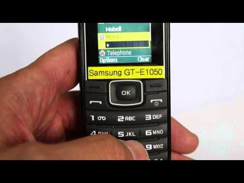 Samsung E1050 電話帳の登録方法