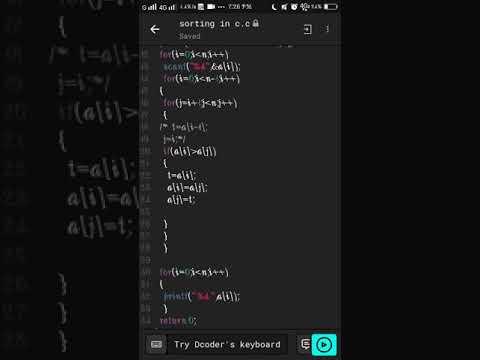 C program- sorting an array / ascending order / Programming For Beginners / Programming In C