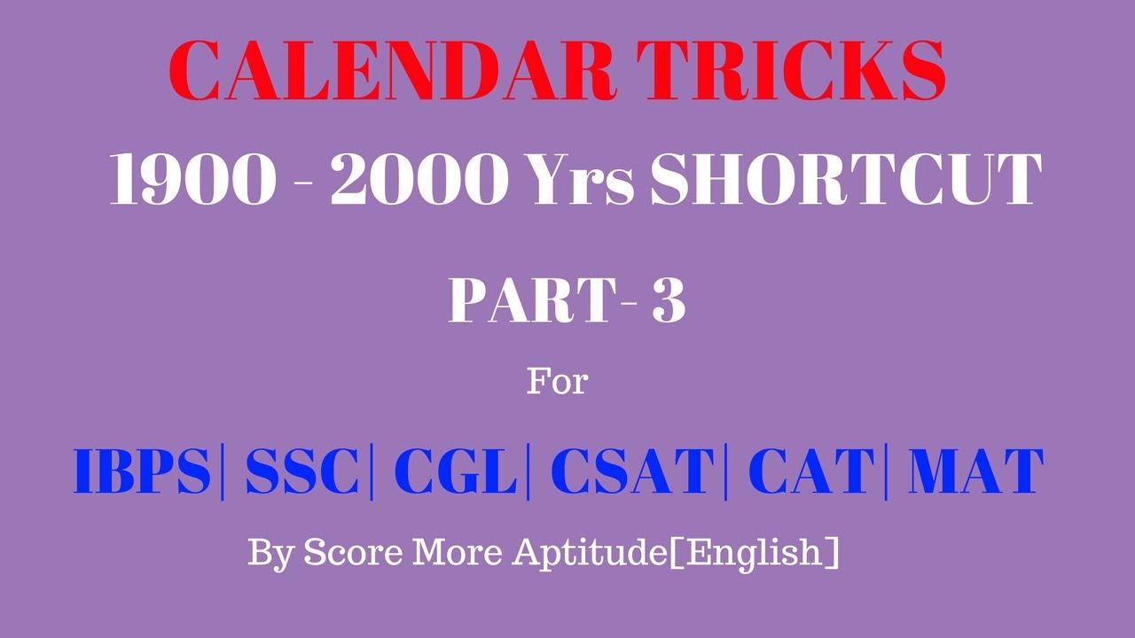 Calendar problems solving in 20 seconds part 3 youtube calendar problems solving in 20 seconds part 3 ccuart Images