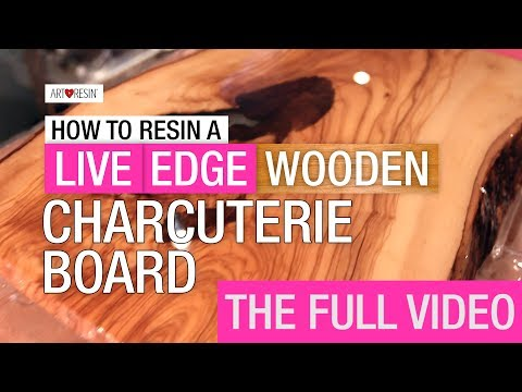 How to Resin a Live Edge Wood Board