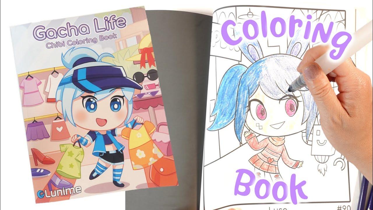 Gacha Life Chibi Coloring Book - Lunime Gacha Studio Gacha Club Characters