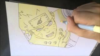 [NARUTO]How to draw naruto bijuu mode  / Comment dessiner naruto mode kyuubi