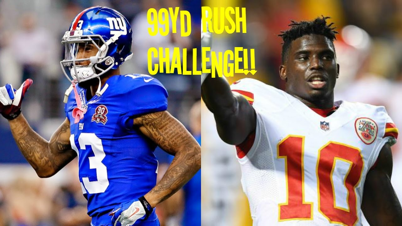 OBJ VS TYREEK HILL WHO CAN GET A 99YD RUSH FIRST?!? SO CLOSE!! - YouTube