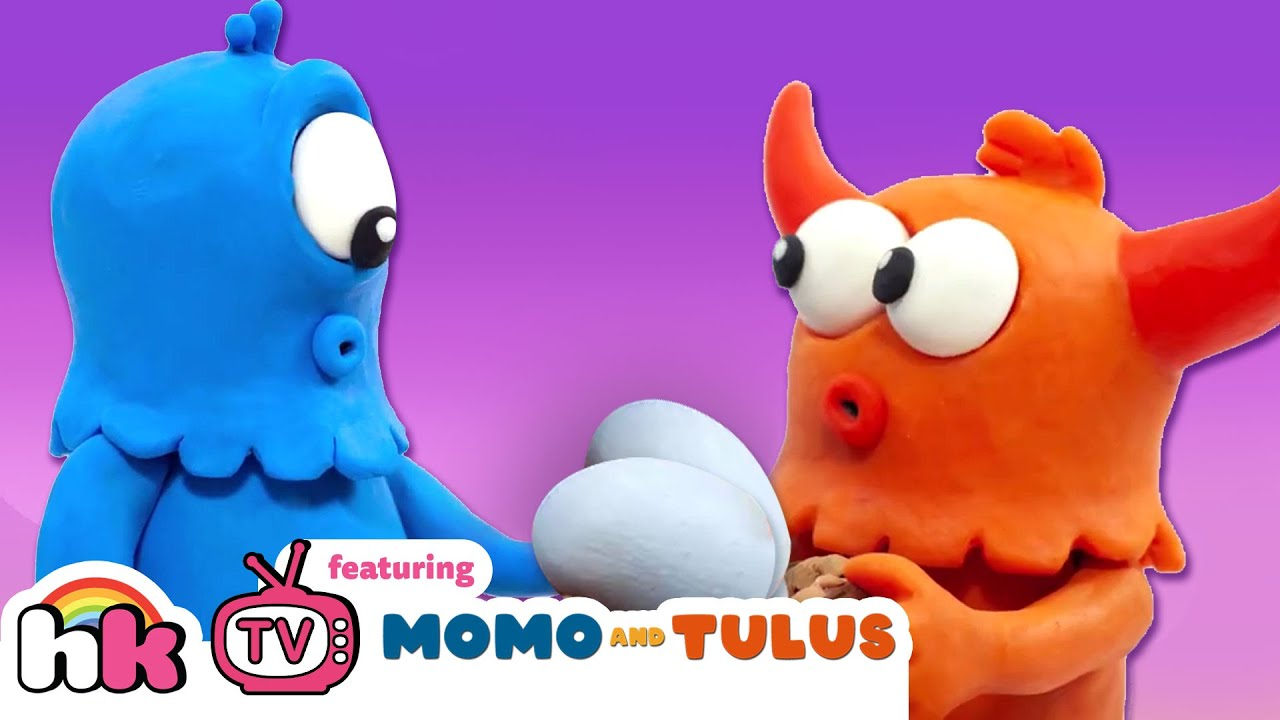 Momo And Tulus : Monsters Surprise Eggs | Silly Monsters Comedy | Funny Cartoons on HooplaKidz TV