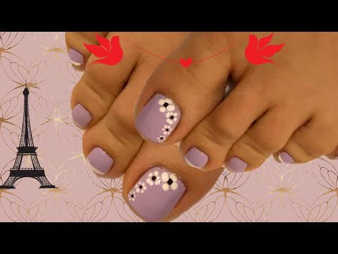 Diseños de uñas fáciles y rapidos para pies