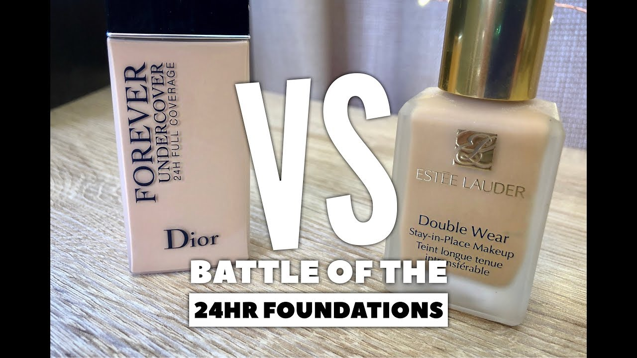 f2fcd6f78a Battle of the 24Hr Foundations: Estee Lauder Double Wear VS Dior Forever  Undercover