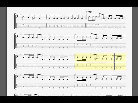 Metallica   Mama Said Bass guitar tablature
