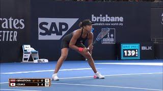 Naomi Osaka v Aanastasija Sevastova match highlights (QF) | Brisbane International 2019
