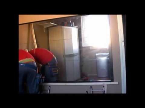 Montar Espejo grande con marco - YouTube