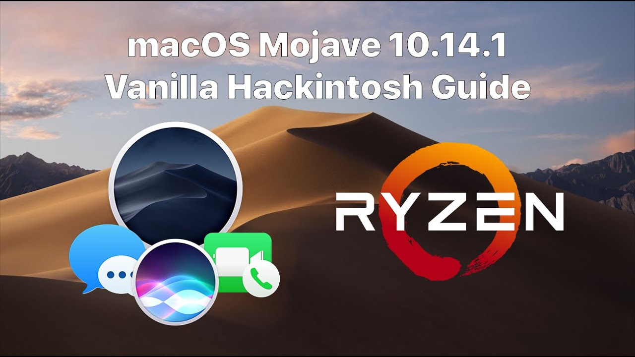 Ryzen/FX Vanilla macOS Mojave 10 14 1/10 14 4 Hackintosh Guide! (Installer  USB created in Windows)