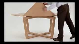 Раскладной стол трансформер - новые технологии функциональности(Современный дизайн не стоит на месте. Представленный на видео раскладной стол-трансформер доказывает это...., 2015-03-04T05:45:16.000Z)
