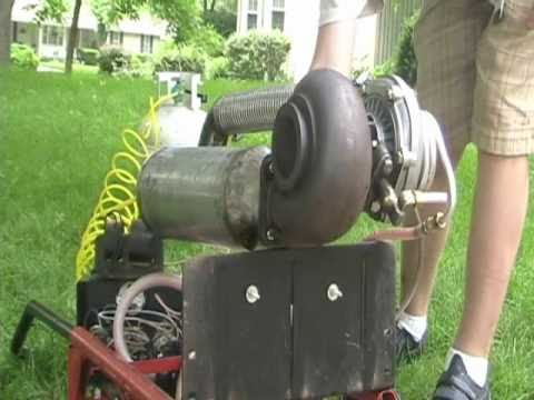 First DIY Turbo Jet Engine Startup and Test - Middle school project