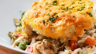 How to Make Cheddar Biscuit Chicken Pot Pie • Tasty
