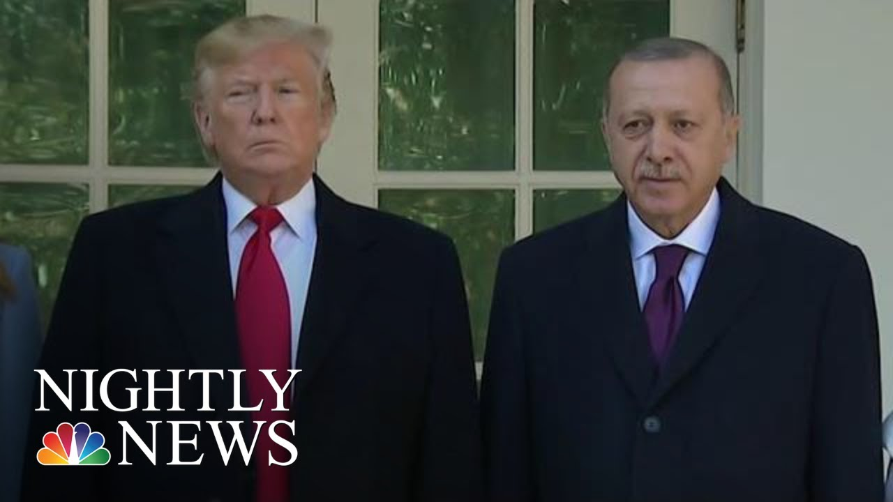 Trump Welcomes Turkey's Leader To White House Weeks After Syria Invasion | NBC Nightly News