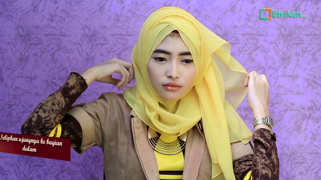 Tutorial Hijab Pashmina Ceruti Simple Terbaru YouTube