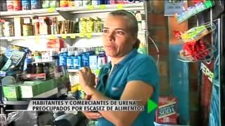 Habitantes y comerciantes de Ureña preocupados por escasez de alimentos