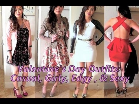 Valentine S Day Outfit Ideas Casual Girly Edgy Sexy Lookbook