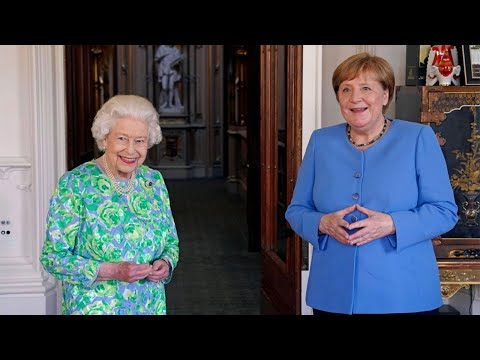 Queen meets Angela Merkel at Windsor Castle