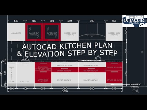 autocad-kitchen-design-&-elevation-step-by-step-tutorial