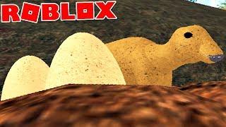 """Primal Life (Roblox)-Bébé dinosaure, chassé par carnivorous """"Edmontosaurus""""-(#30) (EN-BR)"""