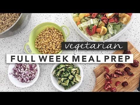 Tasty Vegetarian Weekly Meal Prep | Erin Elizabeth