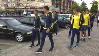 Прогулка сборной Украины в Албании перед матчем с Косово