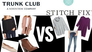 Stitch Fix vs Trunk Club October 2018 | Unboxing and Try-Ons