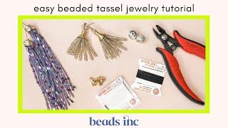 Easy Beaded Tassel Jewelry Tutorial