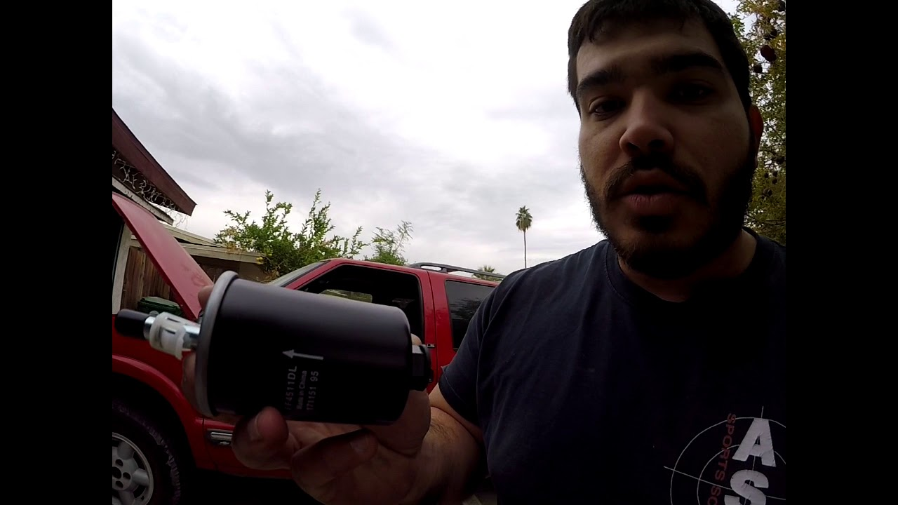 automotive vlog 5 2000 chevy blazer fuel filter replacement Chevy S10 Fuel Filter Location