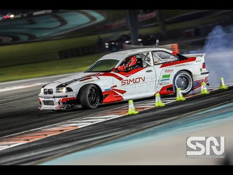 Yas Drift Night Yas Marina Circuit in Abu Dhabi on board E36 2JZ - SimonMotorSport - Folge 170