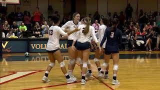 VOLLEYBALL - Virginia vs. Clemson Highlights