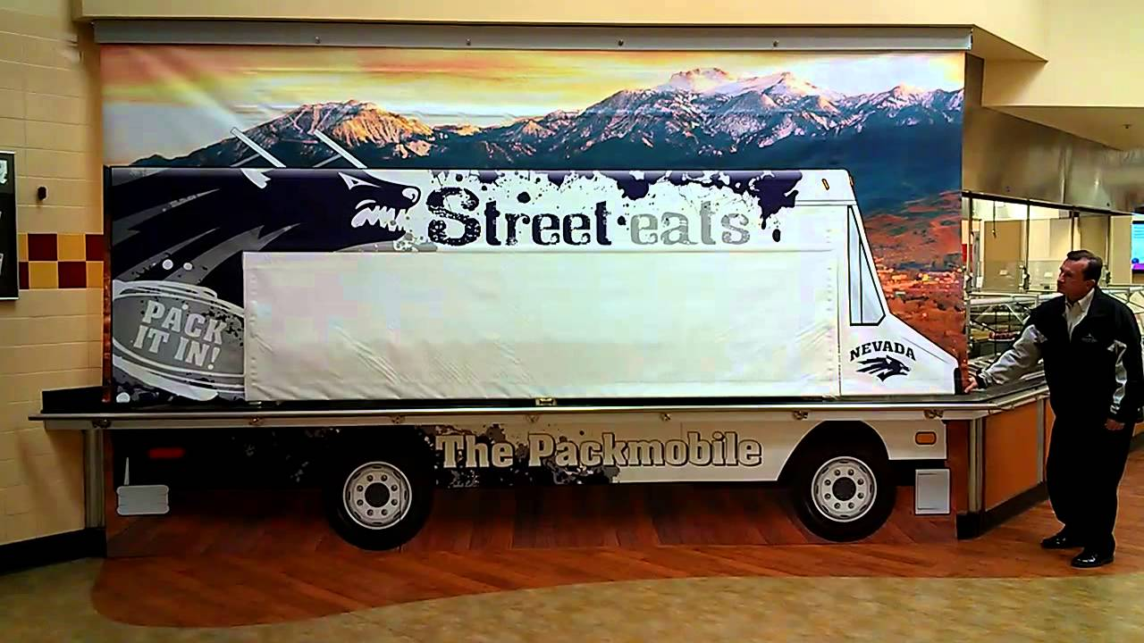 bannerise motorized retractable banner for food truck concept youtube. Black Bedroom Furniture Sets. Home Design Ideas