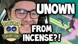 WOW!!! UNOWN FROM AN INCENSE?! & KANGASKHAN!!! (Pokémon GO Safari Zone)