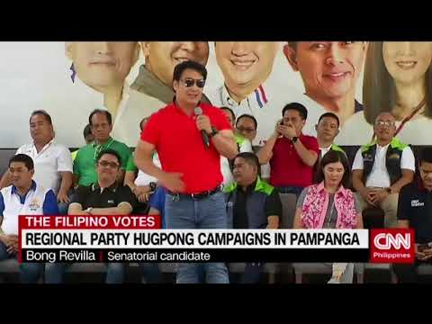 Regional party Hugpong campaigns in Pampanga