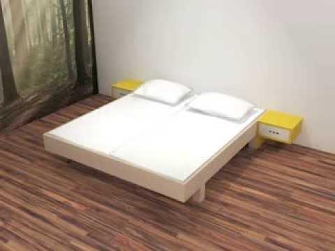 Zelf een tweepersoons bed maken bouwen youtube for Bed van steigerhout maken