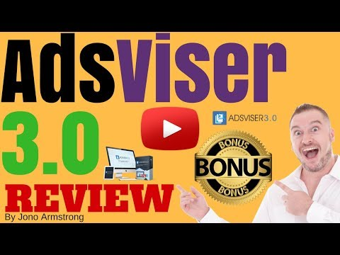 Adsviser 3 0 Review [WARNING] DON'T BUY ADSVISER 3.0 WITHOUT MY **CUSTOM** BONUSES!! [adsviser 3.0]