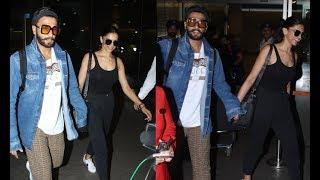 Deepika Padukone - Ranveer Singh's Royal Entry After Celebrating Her Birthday In Srilanka