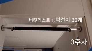 도전 / 버킷리스트1 /턱걸이30개 / step3 / …