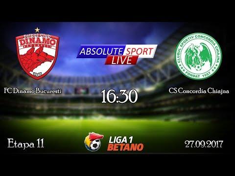 LIVE FC Dinamo - CS Concordia Chiajna - Etapa 11 - Liga 1 - 27/09/2017