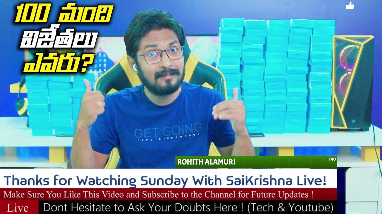 🔴 SaiKrishna is Live! |100 Boya M1 Give Away Winners | Q&A | | #Stay Home | Live No #60