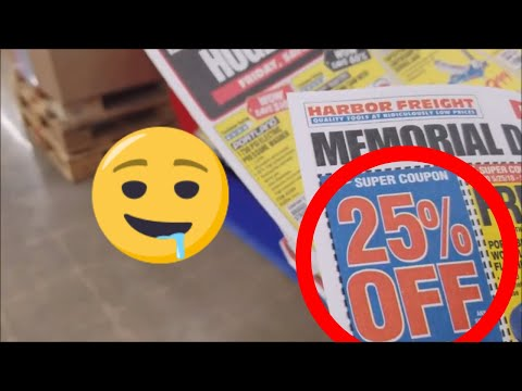 Harbor Freight Shopping & A 25% Off Coupon!