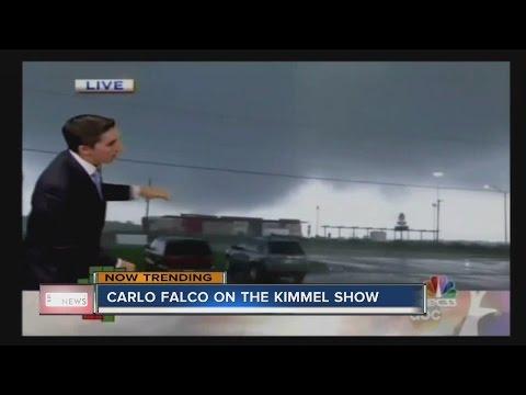 Former meteorologist Carlo Falco on Jimmy Kimmel