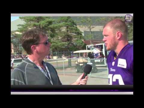 Kyle Rudolph Interview on VikeFans.com - 7-31-14