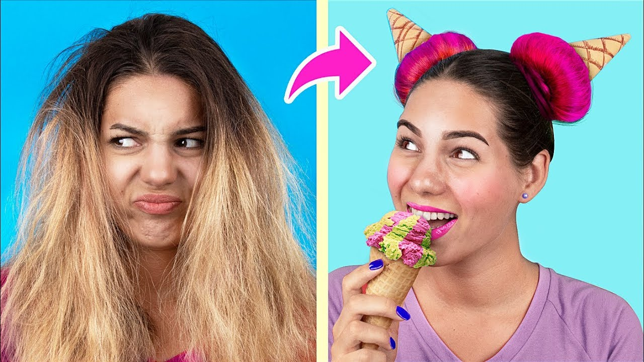15 Hair Hacks And Hairstyles Every Girl Should Know Youtube