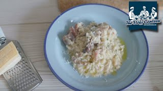 How to make a simple Mushroom and bacon risotto recipe