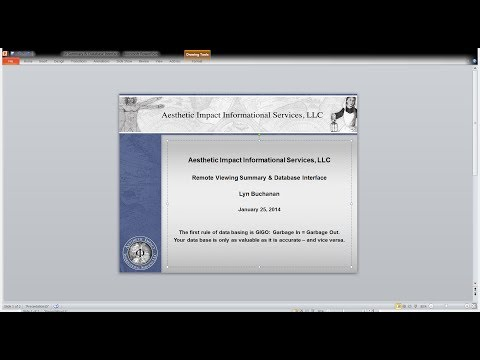 RV Outline Summary & Database Interface with Lyn Buchanan - Teresa Frisch Webinar