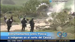 Febrero 26 de 2015  Indígenas se enfrentaron con el Esmad en el Cauca